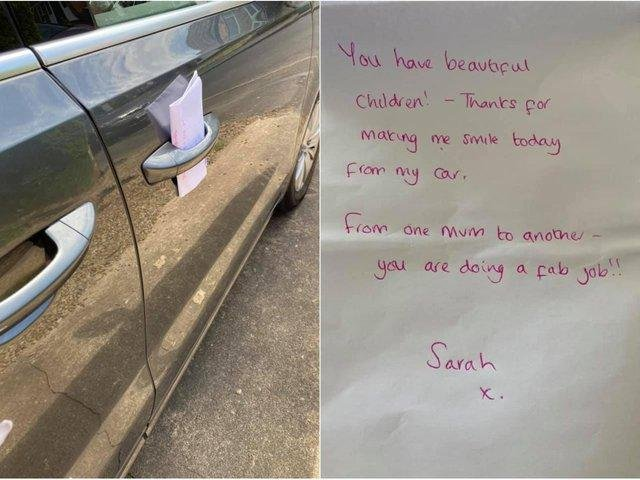 Genevieve Spark returned to her car on Tuesday (15 June) to discover the note after having had a tough morning